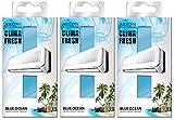 Areon Clima Fresh Ambientador Océano Azul Casa Aire Acondicionado Original Perfume Hogar Salón Habitación Oficina Tienda Duradero Moderno Olor ( Blue Ocean Pack de 3 )