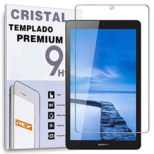 REY Protector de Pantalla para Huawei MEDIAPAD T3 7' WiFi, Cristal Vidrio Templado Premium