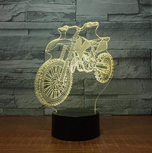 3D nachtlampje kruis fiets origineel nachtlicht 3D LED tafellamp USB 7 kleurverandering tafellamp sensor als geschenk verjaardag vakantie