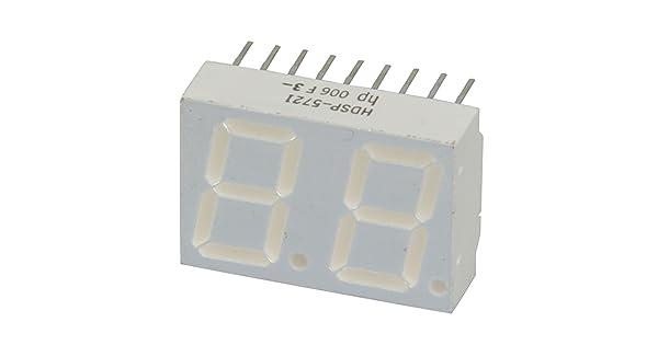 4pcs HP HDSP-5721 DUAL LED 7-SEGMENT YELLOW COMMON ANODE RIGHT DECIMAL NEW