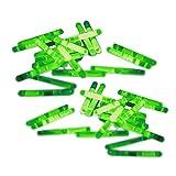 20 Mini-Knicklichter, Bissanzeiger, Angel-Knicklichter in grün inkl. Verbinder | verpackt zu je 2...