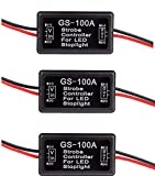 Ketofa LED Brake Stop Light Strobe GS-100A Flash Module Controller Box For Car Vehicle(Pack of 3)