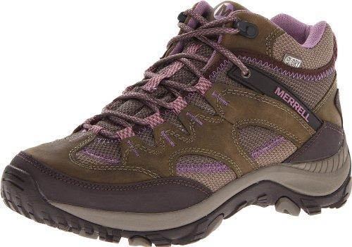 Merrell Women's Salida Mid Waterproof Hiking Boot,Brindle,5 M US