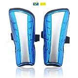 WIKEA Fußball-Schienbeinschützer Kinder Leicht Dauerhaft - Wadenschutz, Fußballausrüstung für Unisex-Erwachsene, Jugendliche, 7,87 x 3,93 Zoll (Blau)