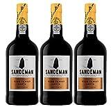 Tinto Porto Sandeman Tawny (DOC Porto) - 3 botellas de 750 ml - Total: 2250 ml