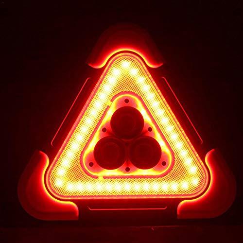 ningxiao586 LED blinkendes Warndreieck, Solar + USB, das Warndreieck auflädt, das PFEILER-Arbeits-Straßen-Notlampe für gelben Selbstwinkel blinkt