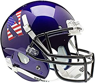 Schutt Northwestern Wildcats Full XP Replica Football Helmet - Flag N - NCAA Licensed - Northwestern Wildcats Collectibles