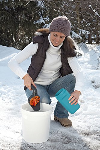 GARDENA Kleinstreuer S Aktion: Streugutbehälter und Handstreuer geeignet für Sand, Salz und Splitt, zum Streuen im Winter, einzigartiges Dosiersystem, auch für Dünger und Saatgut verwendbar (3255-30) - 3