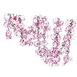 Flores Artificiales 2 Piezas de Flores Artificiales de Color Rosa Que cuelgan guirnaldas de ratán para la decoración del jardín