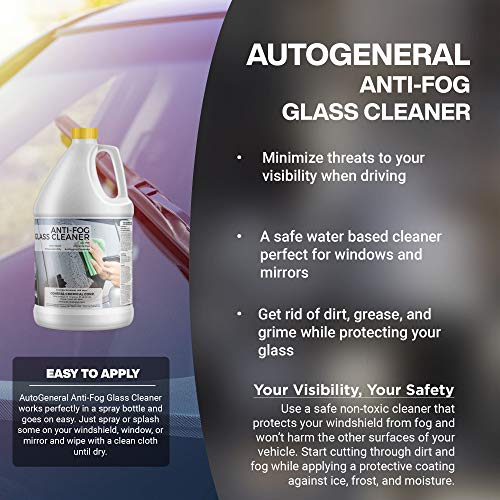 51 yHXPdzQL - AutoGeneral - Anti-Fog Glass Cleaner - Ammonia Free Automotive Window and Windshield Cleaner - Spray Concentrate - Antifogging Formula - Industrial Strength - Professional Grade - 1 Gallon Jug