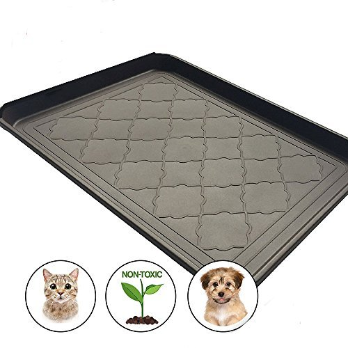 Easyology Premium Pet Food Tray - Dog Food Mat and Cat Food Mat with Non Skid Design - Best Pet Bowl...