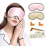 LilySilk Schlafmaske 2er Pack Damen Herren 100% Seide Hautfreundlich für Allergiker   Perfekt Sitz   Schlafbrille Augenmaske Nachtmaske - Zufällige Farben 2er Pack mit 2 Paare Ohrstöpseln