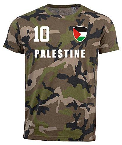 aprom Palästina Camouflage T-Shirt - All-10 - Trikot Army Look WM World Cup Palestine (XL)