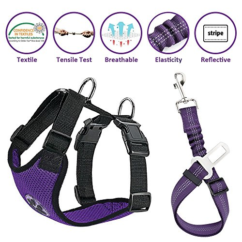 Lukovee Dog Safety Vest Car Harness