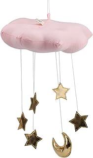 Fdit Nuage Pendaison Décoration Flottant Nuage Pendentif avec Lune Étoiles Lit de Bébé Chambre Jouer Tente Mur Art Décor(R...