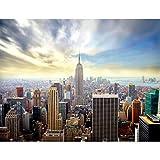 Papel Pintado Fotográfico New York 308 x 220 cm Tipo Fleece no-trenzado Salón Dormitorio Despacho Pasillo Decoración murales decoración de paredes moderna - 100% FABRICADO EN ALEMANIA - 9005010a