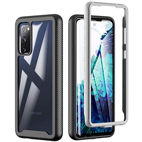 Für Samsung Galaxy S20 FE Hülle, 360° R&umschutz TPU Robust Bumper Hülle Outdoor Handyhülle Mit Eingebautem Bildschirmschutz, Stoßfest Kratzfeste Schutzhülle Cover für Samsung Galaxy S20 FE 5G | 4G