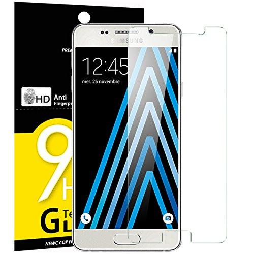 NEW'C PanzerglasFolie Schutzfolie für Samsung Galaxy A3 2016, Frei von Kratzern Fingabdrücken und Öl, 9H Härte, HD Displayschutzfolie, 0.33mm Ultra-klar, Displayschutzfolie Samsung A3 2016