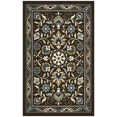 Maples Rugs 2'6 x 3'10 Hallway Entry Kitchen Rugs Non Skid Accent Area Mat [Made in USA], Coffee Brown