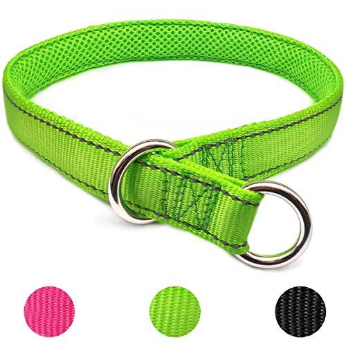 Mycicy Hunde Halsband, Reflektierendes Weichem Nylon Halsband für Hunde,Grün 50cm