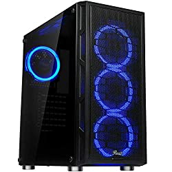 top rated Rosewill ATX Mid Tower Gaming Computer Case, Two Blue LED Ring Fans, 360mm Water Cooling … 2021