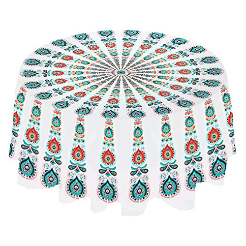 PowerKing Indian Mandala Hawaii zonwerende ronde strand gooien tapijt Hippy Boho Gypsy tafelkleed strand sjaal 60 inch