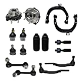 Detroit Axle - Tie Rod Ends Only Check Before YOU Order - Complete 16pc Front Suspension Kit - Front: 2 Wheel Bearings, 2 Upper Control Arms, All (4) Upper & Lower Ball Joints…