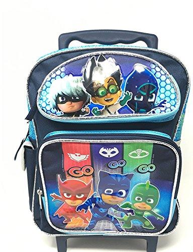 PJ Masks Backpack 12' Roller Boys Book bag GO GO GO School Backpack