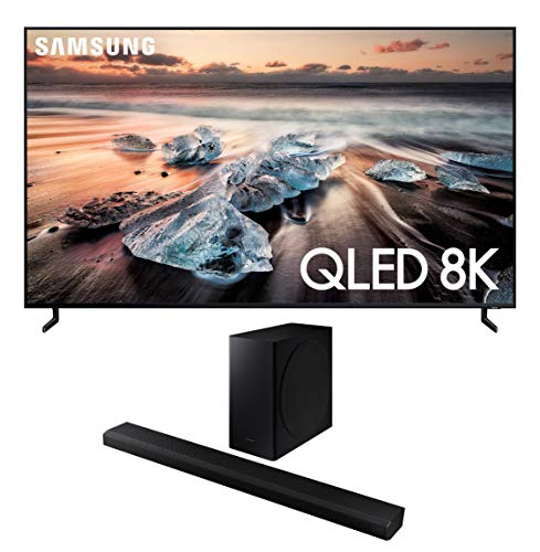 """Samsung QN55Q900RB 55"""" 8K Ultra High Definition Smart QLED TV with a Samsung HW-Q800T 3.1.2 Ch Dolby Atmos Soundbar and Wireless Subwoofer Connecticut"""