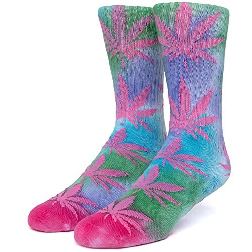 HUF Herren Socken Drip Dye Plantlife, Größe:ONESIZE, Farben:pink
