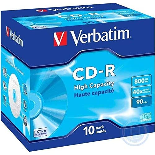 Verbatim CD-R 90 800MB Confezione da 10 pezzi