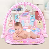 Baby Activity Center Play Gym Play Mat Activity Gym for Baby, Piano Gym Baby Game Pad Music Pedal...