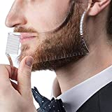 Beard Molding Template, Transparent Men's Beard Shaping & Styling Template Tool for Hair Beard Trim Model