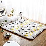 J-Kissen Boden Tatami-Matte, Schlafmatratzenauflage Pad Folding Dicker, Futon-Matratze Kissen, Studentenwohnheim Schlafmatte (Color : J, Size : 0.9m Bed) - 6