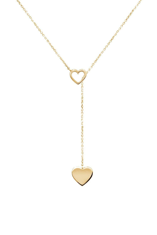 Las Vegas Mall Tiny Gold Heart Lariat Style Necklace 14K Yellow G 5 popular 18K 9K