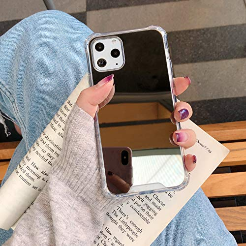 KEXAAR Mirror case for iPhone 11 Pro Max Case, [Four Corner Thick Guard Shockproof] Hard Back Soft Bumper Protective Cover Girls Woman Makeup Touch up Back Camera Selfies (Mirror 11 ProMax)