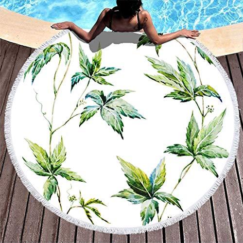 Zhenxinganghu dikke ronde strandkussen, bloemenpatroon, strandkleed, picknickmat, buiten, ultrazacht, strand & zwembad