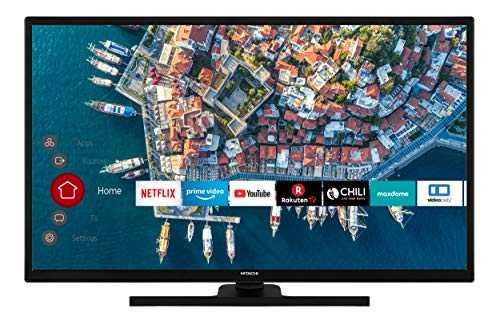 HITACHI F32E4100 80 cm / 32 Zoll Fernseher (Smart TV inkl. Prime Video/Netflix/YouTube, Full HD, Bluetooth, Works with Alexa, PVR-Ready, Triple-Tuner)
