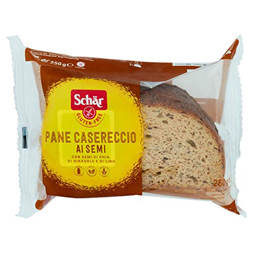 DR. SCHAR pan payés con semillas SIN GLUTEN bolsa 250 gr