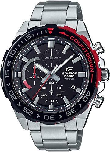 Casio Edifice Herren Chronograph Quarz Armbanduhr EFR-566, Silber