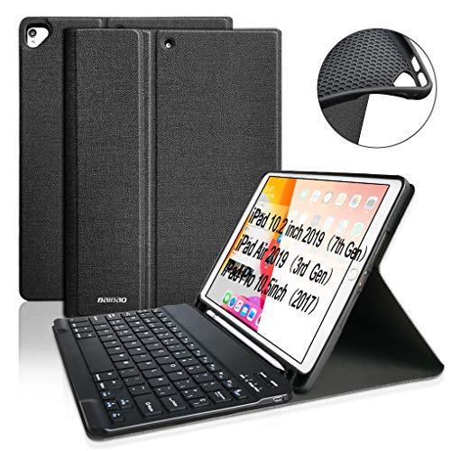 BAIBAO Teclado para iPad 10.2 2019, Funda Teclado para iPad Air 3 10.5 Teclado Inalámbrico para iPad Pro10.5 con Teclado Bluetooth Español,Funda para iPad 7 generacióncon con Teclado Desmontable