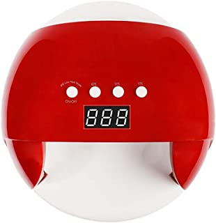 Zryh Secador de uñas UV LED Lámpara de Clavo 24W, Gel Polish Light, UV Nail Light Máquina de Secado rápido, Esmalte de uñas Gel de Secado LED Secador (Rojo)