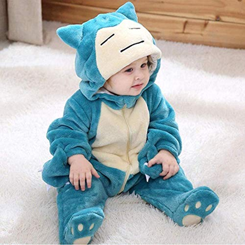 LLCA Snorlax Onesie Baby Romper Infant Cute Clothes 0-3 Y New Born Boy Girl Clothes Funny Baby Costume Soft Warm Outfit ropa Bebe-Snorlax_9M(5-11 Months)