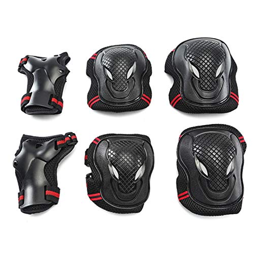 SAYW Knee Pads and Elbow Pads with Wrist Guards Protective Gear Set for Roller Skates Cycling BMX Bike Skateboard Inline Skatings Scooter Riding Sports,Kids/Youth 6 in 1 Protective Gear (S)