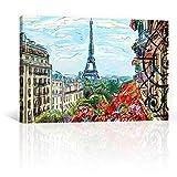 CANVAS REVOLUTION | Cuadro Decorativo Canvas Lienzo Impresión | Pintura Impresa | Hermoso Paris | Diferentes Dimensiones Tamaños Medidas Disponibles | Decoración De Interiores | Cuadros...