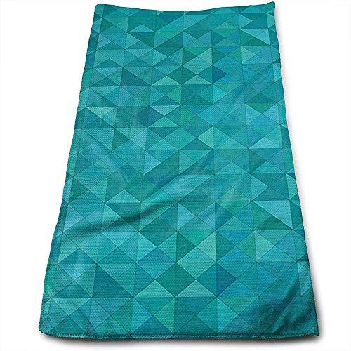 Bert-Collins Towel Formes géométriques Triangles Personnalité Amusant Motif Visage Serviettes Superfine Fibre Super Absorbant Doux Serviettes De Gym