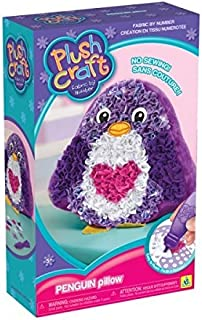 The Orb Factory Plushcraft Penguin Pillow