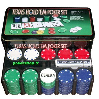 Set completo 200 Fiches 8 Gr. Texas Hold'Em