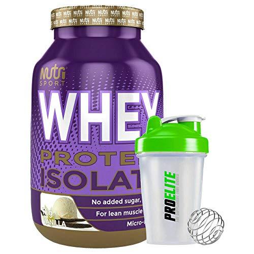 Nutrisport 100% Pure Whey Protein Isolate 1kg / 1000g + Shaker (Vanilla)