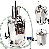 8 Gal 30 L Home Distiller Moonshine Alcohol Still Spirits Kit Water Alcohol Distiller Home Brew Wine Making Kit 304 Stainless Steel Oil Boiler Keg
